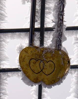 Jungfraujoch Photograph - Love Locked Jungfraujoch by Amelia Racca