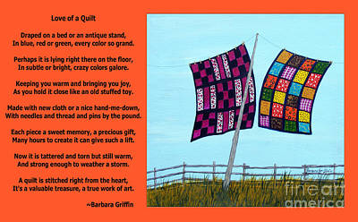 Love Of A Quilt  Art Print by Barbara Griffin