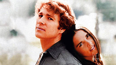 Mixed Media - Love Story Ali Macgraw Ryan O'neal by Marvin Blaine