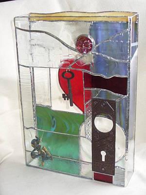 Glass Art - Love Unlocks by Karin Thue