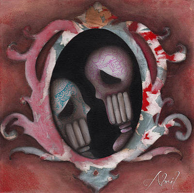 Pop Surrealism Painting - Lovers by  Abril Andrade Griffith