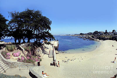 Photograph - Lovers Point Beach Pacific Grove Calif. Taken With A 17mm Fish-eye Lens by California Views Archives Mr Pat Hathaway Archives