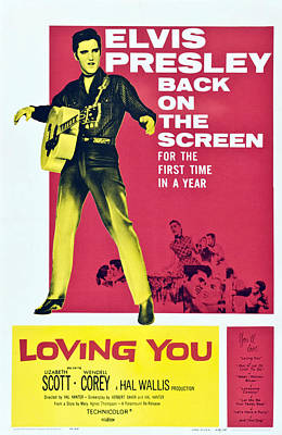 1957 Movies Photograph - Loving You, Elvis Presley, 1957 by Everett