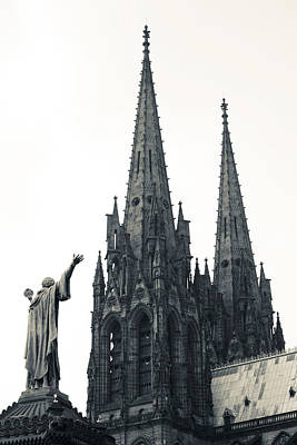 Clermont Photograph - Low Angle View Of A Cathedral by Panoramic Images