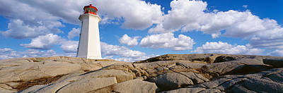Halifax Halifax Nova Scotia Photograph - Low Angle View Of A Lighthouse, Peggys by Panoramic Images