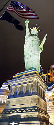 Statue Of Liberty Replica Photograph - Low Angle View Of A Statue, Statue by Panoramic Images