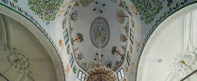 Synagogue Photograph - Low Angle View Of Ceiling Of Abuhav by Panoramic Images