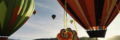 Taos Photograph - Low Angle View Of Hot Air Balloons by Panoramic Images