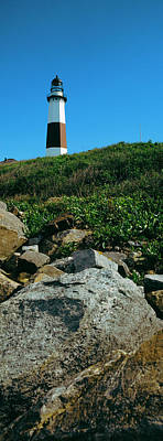 Montauk Point Lighthouse Photograph - Low Angle View Of Lighthouse, Montauk by Panoramic Images
