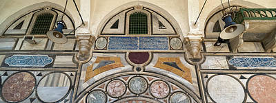 Mosaic Photograph - Low Angle View Of Mosaic Tiles On Wall by Panoramic Images