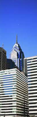 Philadelphia Skyline Photograph - Low Angle View Of Skyline In Downtown by Panoramic Images