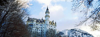 Neuschwanstein Castle Photograph - Low Angle View Of The Neuschwanstein by Panoramic Images