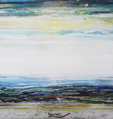Mixed Media - Low Newton Beach Rhythms And Textures 3 by Mike   Bell