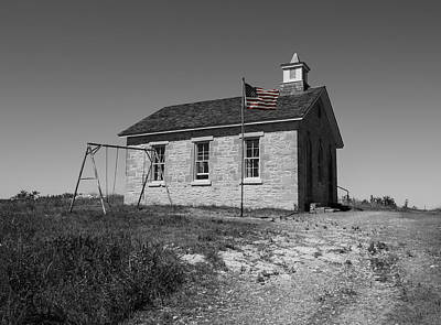 One Room School Houses Photograph - Lower Fox Creek School by Chris Harris
