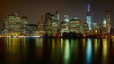 New York City Skyline Photograph - Lower Manhattan by Joseph Nuzzo
