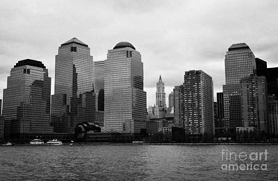 Lower Manhattan Shoreline And Skyline Waterfront New York City Art Print by Joe Fox