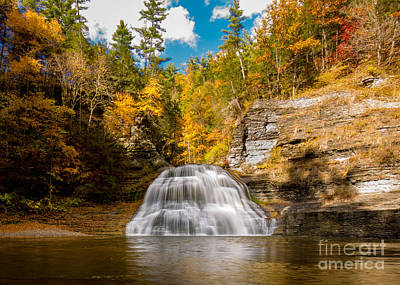 Lower Treman Falls Art Print