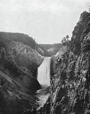 Lower Yellowstone Falls Print by Granger