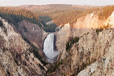 Photograph - Lower Yellowstone Falls On The Yellowstone River At Artist Point by Fred Stearns