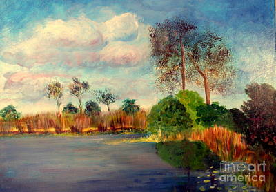 Plein Air Painting - Loxahatchee Nature Preserve by Donna Walsh