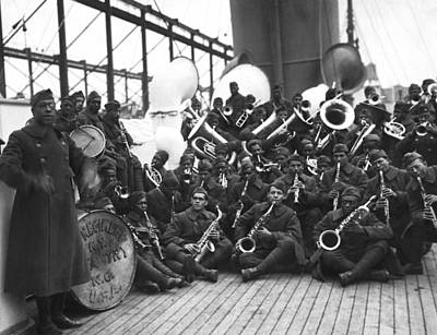 Harlem Wall Art - Photograph - Lt. James Reese Europe's Band by Underwood Archives
