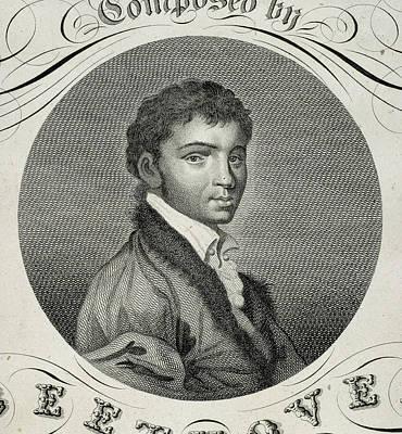 Piano Photograph - Ludwig Van Beethoven by British Library
