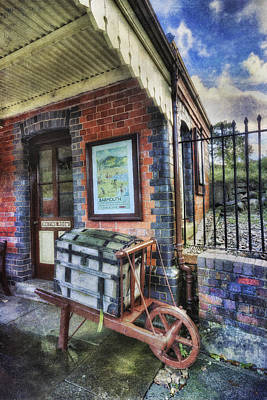 Photograph - Luggage At The Station by Ian Mitchell