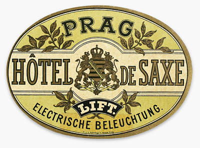Saxe Photograph - Luggage Label by Granger