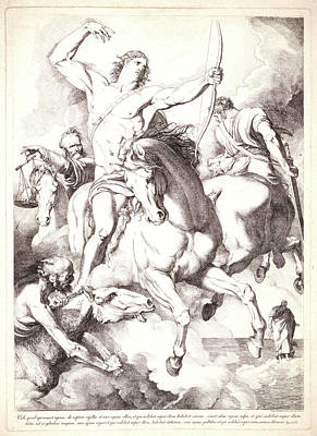 Four Horsemen Drawing - Luigi Sabatelli I Italian, 1772 - 1850. The Four Horsemen by Litz Collection