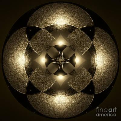 Digital Esoteric Digital Art - Luminous Mandala by Klara Acel