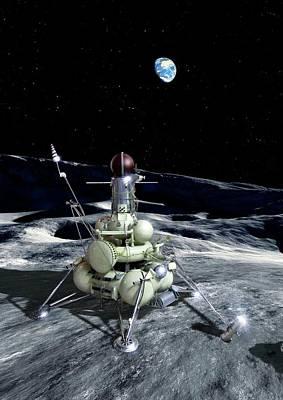 Composite Photograph - Luna 16 Probe by Detlev Van Ravenswaay