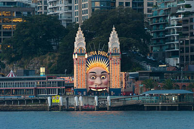 Luna Photograph - Luna Park On Milsons Point, Sydney, New by Panoramic Images