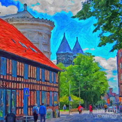 Lund Street Scene Art Print by Antony McAulay