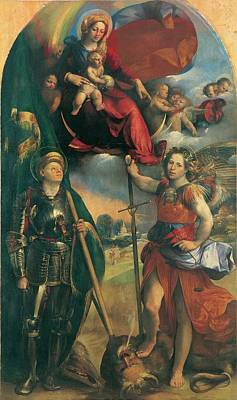 St. Michael Photograph - Luteri Giovanni Know As Dosso Dossi by Everett