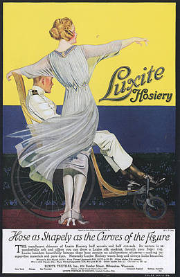 Luxite 1910s Usa Womens Hosiery Art Print by The Advertising Archives