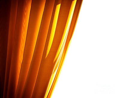 Photograph - Luxury Golden Curtain by Anna Om