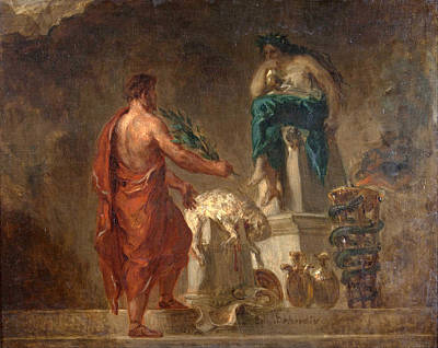 Lycurgus Painting - Lycurgus Consulting The Pythia by Eugene Delacroix