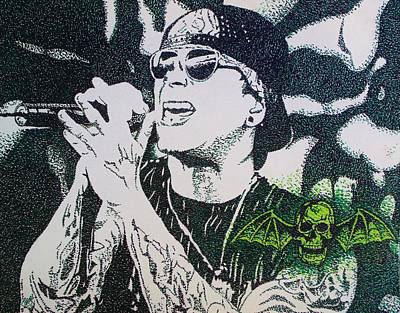Pointalism Drawing - M Shadows by Jeremy Moore