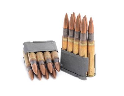 M1 Garand Clips And Ammunition. Art Print