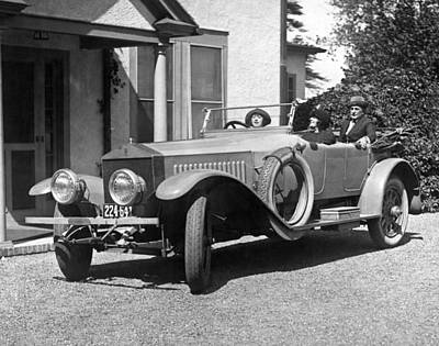 Mabel Normand In A Rolls Royce Art Print by Underwood Archives