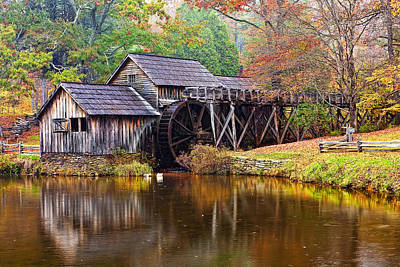 Mabry Grist Mill Print by Marcia Colelli