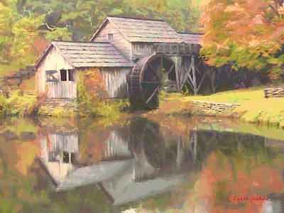 Grist Mill Painting - Mabry Mill by Lynne Jenkins