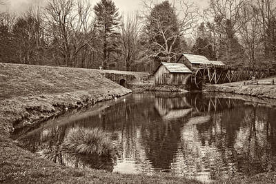 Color Photograph - Mabry Mill by Marcia Colelli