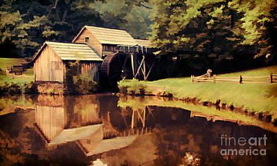 Blueridge Photograph - Mabrys Mill by Darren Fisher