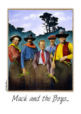 Carmel Valley Painting - Mack And The Boys... by Will Bullas
