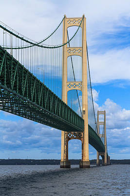 Mackinac Bridge Art Print by Cindy Lindow
