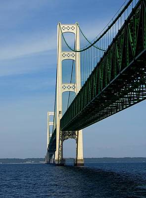 Photograph - Mackinac Bridge Towers by Keith Stokes