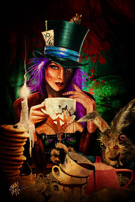 Digital Art - Mad Hatter by Doug Schramm