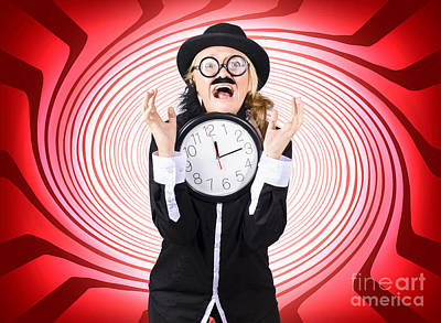 Warped Photograph - Mad Scientist In Space Time Warp  by Jorgo Photography - Wall Art Gallery