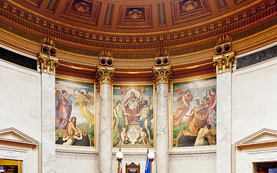Photograph - Murals In The Capitol - Madison by Steven Ralser